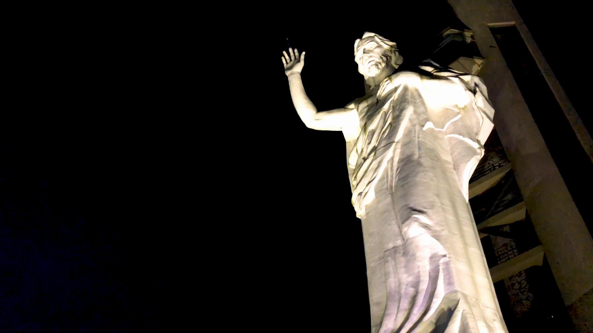 Christ statue at the Ecoparque Cerro del Santísimo.