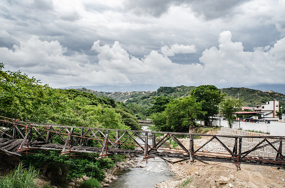 The old bridge that crossed the Rio de Oro (River of Gold) in Girón.
