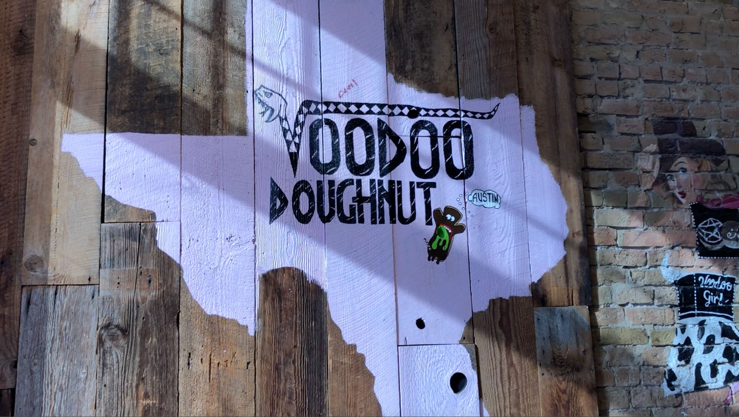 An Austin, Texas mainstay…VooDoo Doughnut serves up their creative sugar treats 24 hours a day.