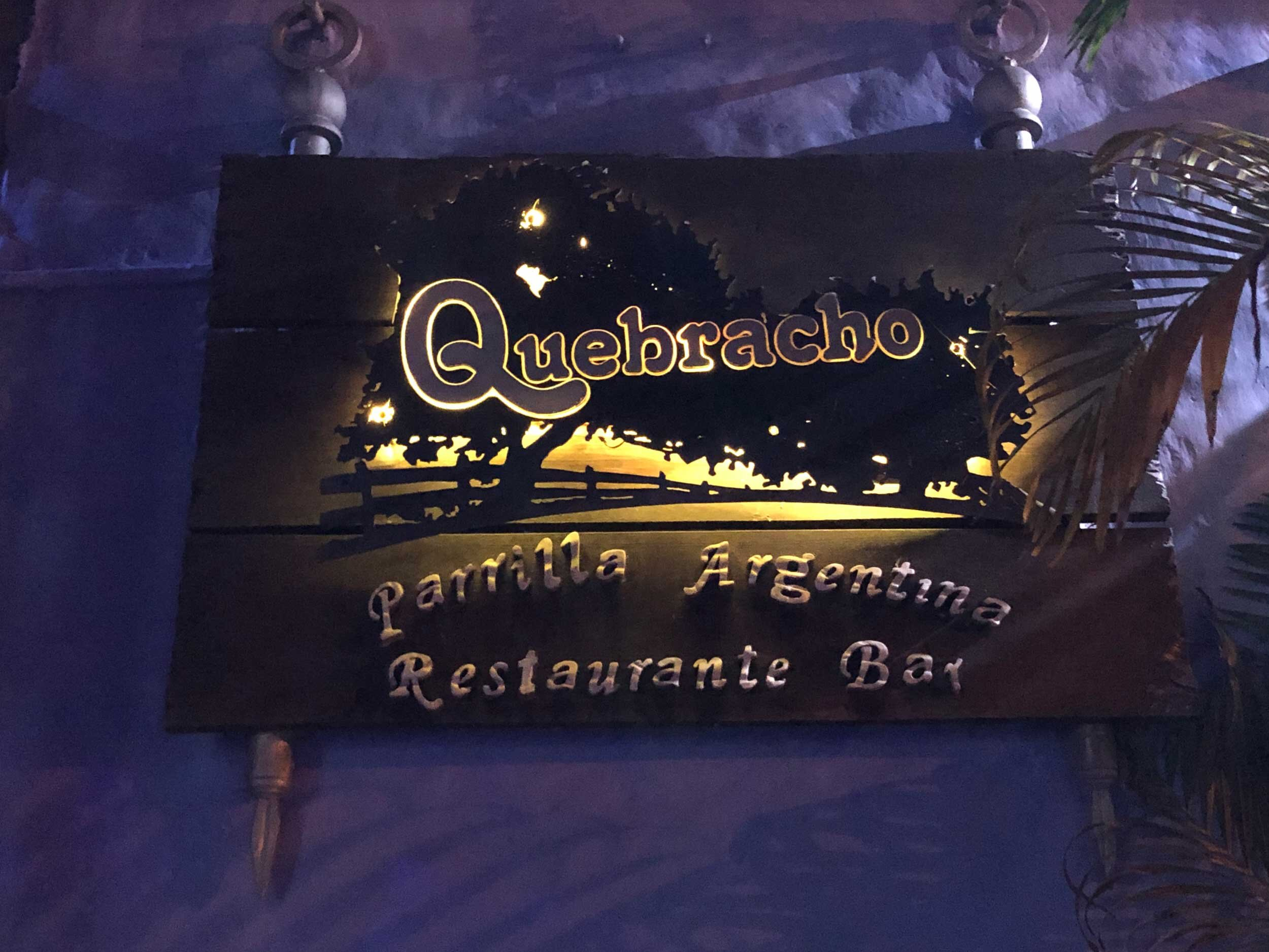 Quebracho is a traditional Argentinian parrilla (grill) with wonderful aromas and food.
