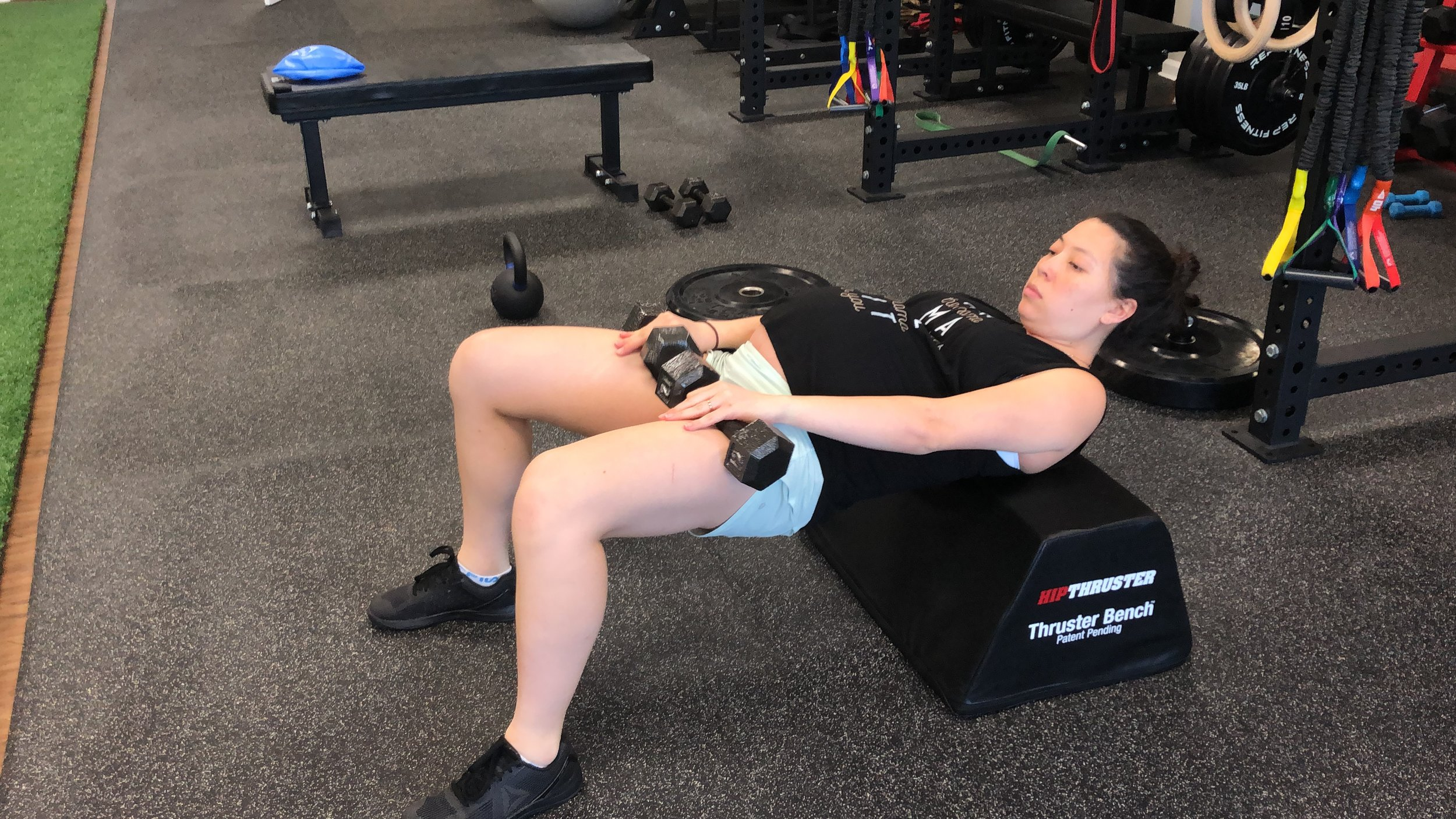 Dumbbell Hip Thrust