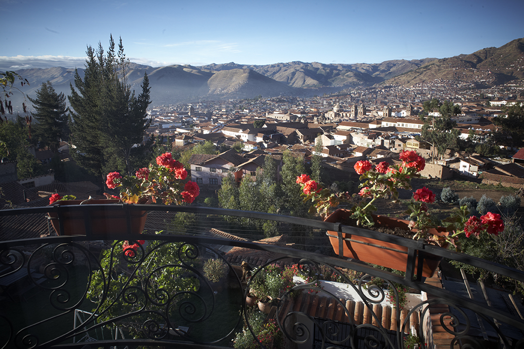 View from the homestay in Cusco, two days before the hike