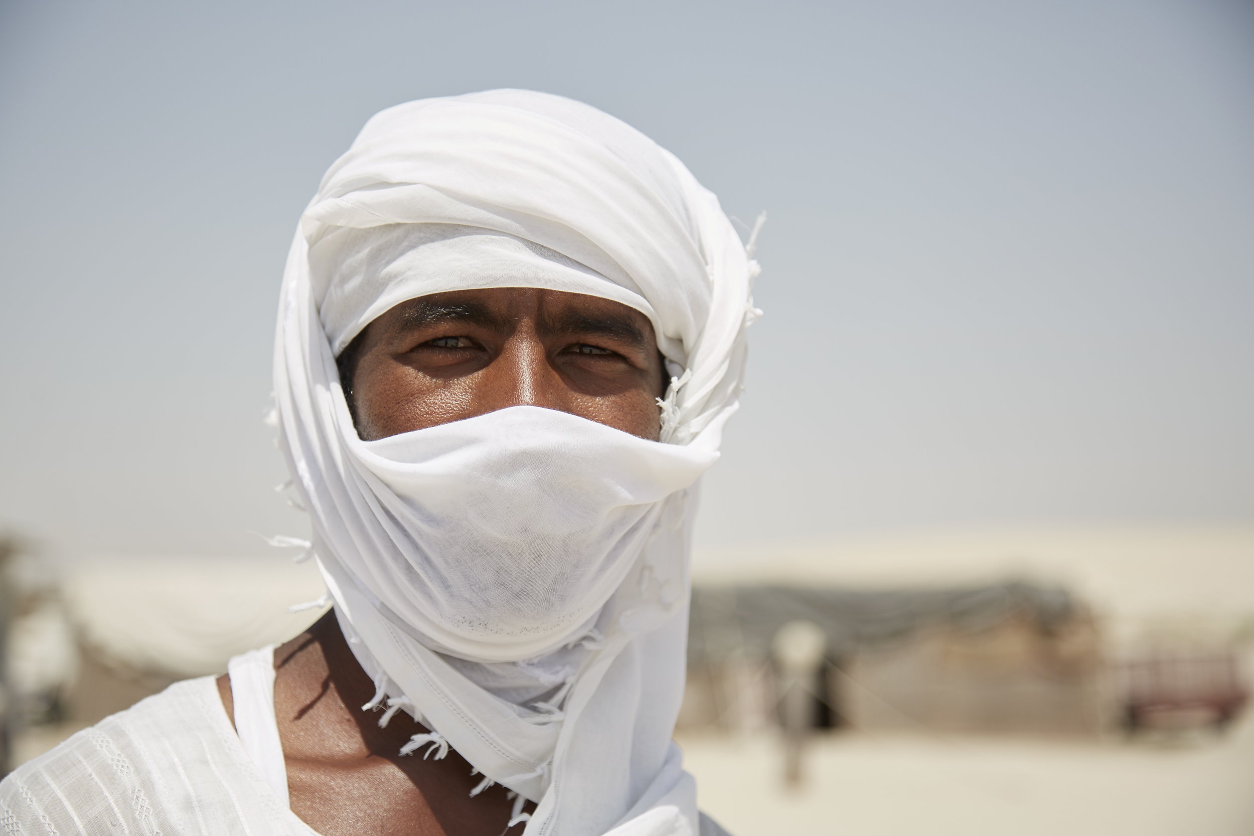 Sudanese Camel Caretaker, (near Mesaieed, Qatar)