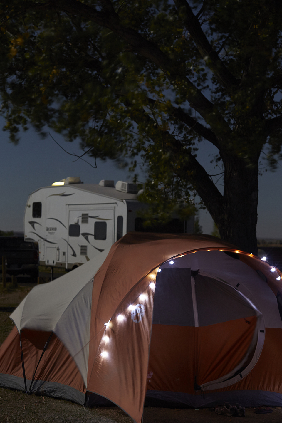 My campsite in the Badlands, South Dakota, from where I shot the photo you see above (the pic prior to this one)