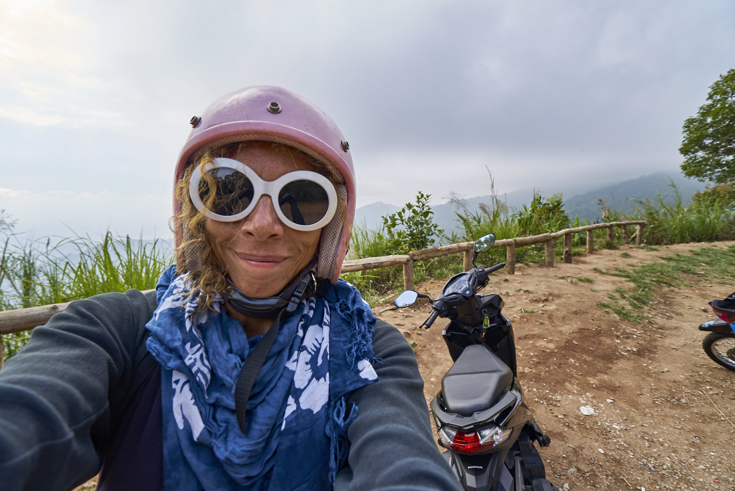 Yours truly, during my ride on the Samoeng Loop