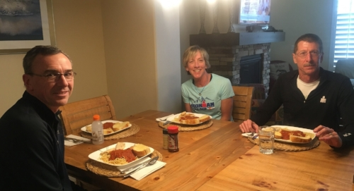 Simple pre-race dinner