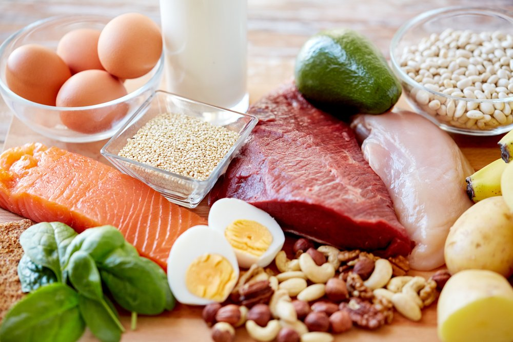 Protein-containing foods.
