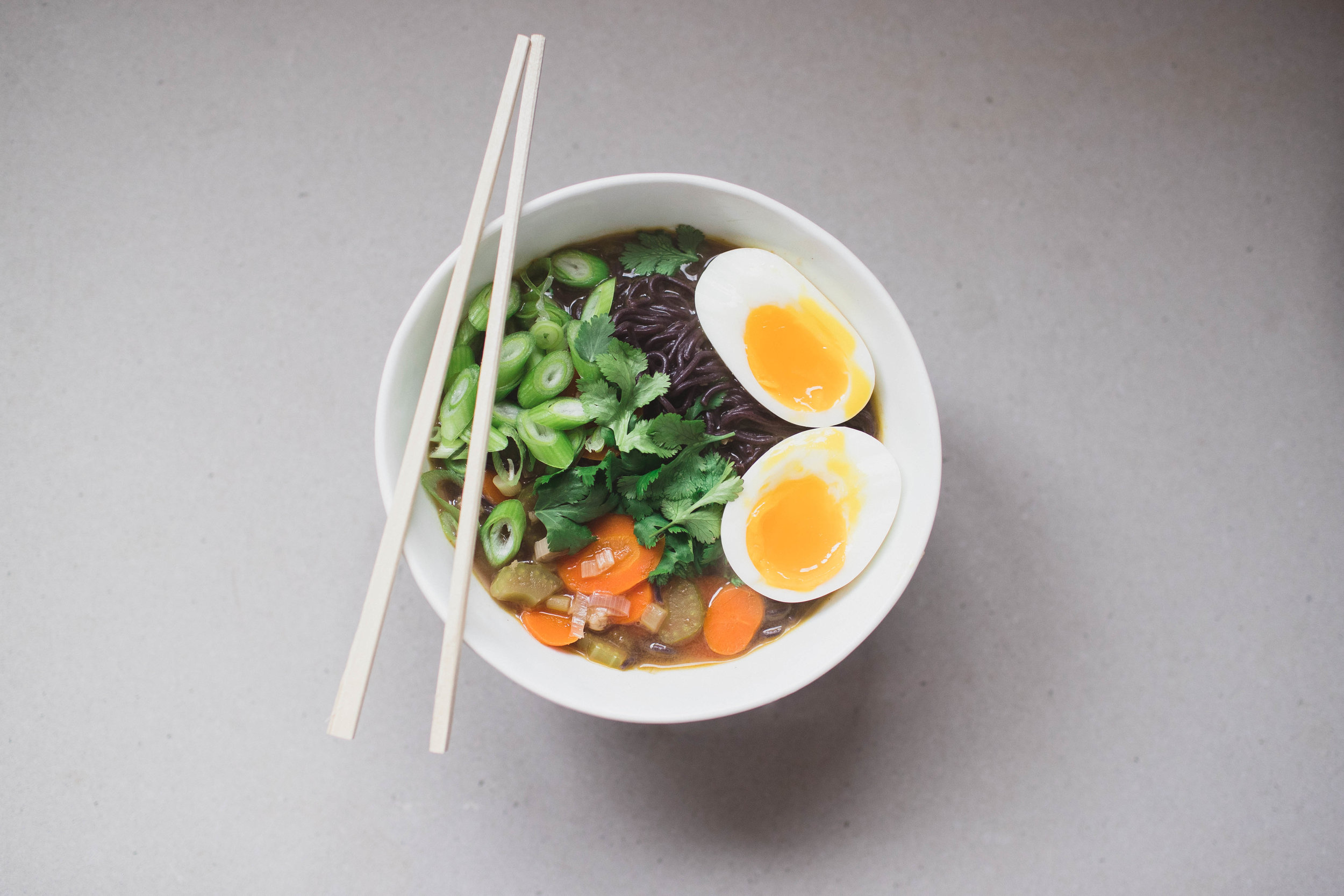 homemade ramen bowl
