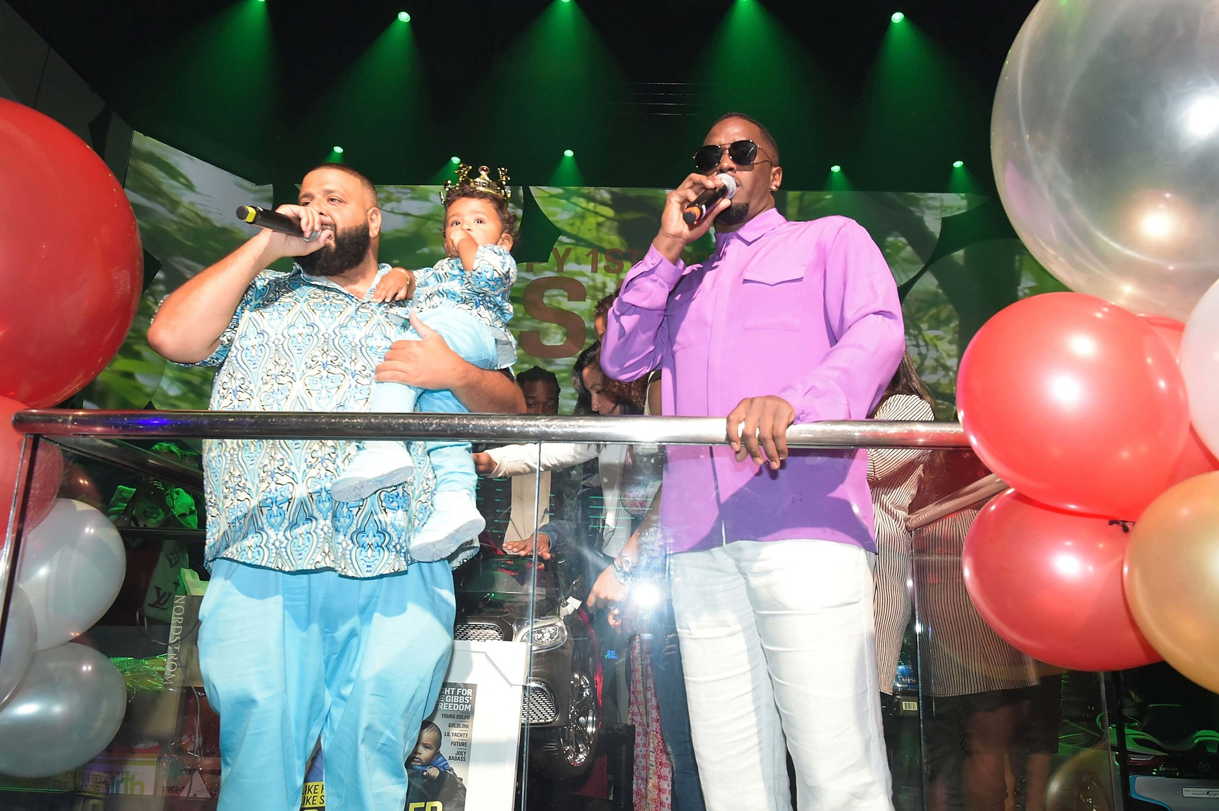 Asahd Went All Out for His First Birthday at LIV in Miami With DJ Khaled and Diddy