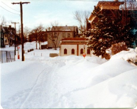 Looking down Lamartine St. towards Green. Photograph courtesy of Brian Frost.