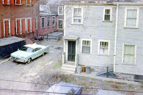 1966 view of Buff and Buff parking lot off Lamartine. Photograph courtesy of Brian Frost.