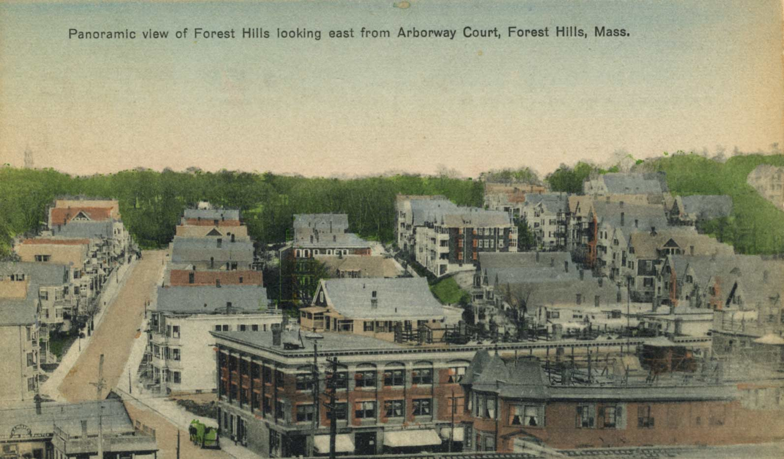 View of Forest Hills. Scanned from a postcard donated by Annie Finnegan, November 2007.