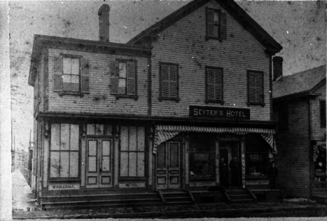 Exterior view of Seyter Hotel located in the vicinity of Boylston Station, Jamaica Plain. Photograph courtesy of Emy Thomas. Higher resolution versions of photographs in this set are  available .