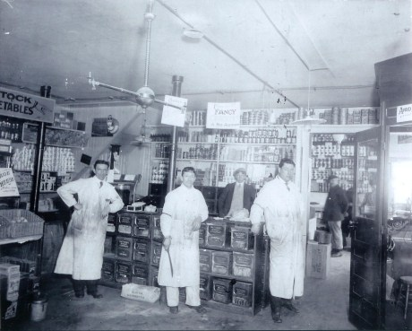 The Patterson family store selling groceries on Jamaica St. Photograph courtesy of the Patterson family. A higher resolution version of this photograph is  available .