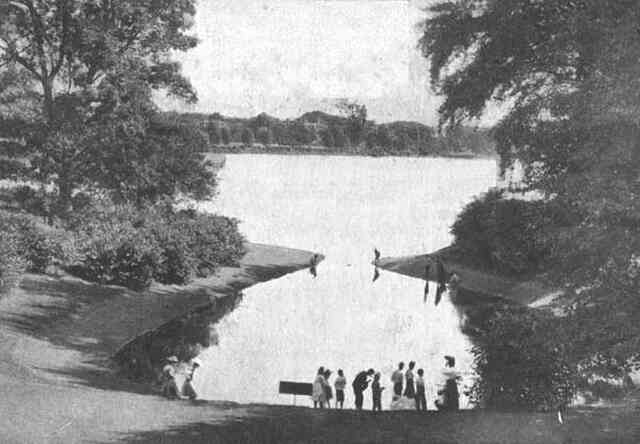 Perkins' Cove was once located on Jamaica Pond below Pinebank. It was filled in before World War I.