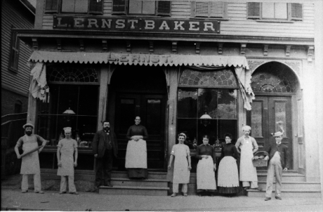 Exterior view of L. Ernst Bakery located in the vicinity of Boylston Station, Jamaica Plain. Photograph courtesy of Emy Thomas. Higher resolution versions of photographs in this set are  available .