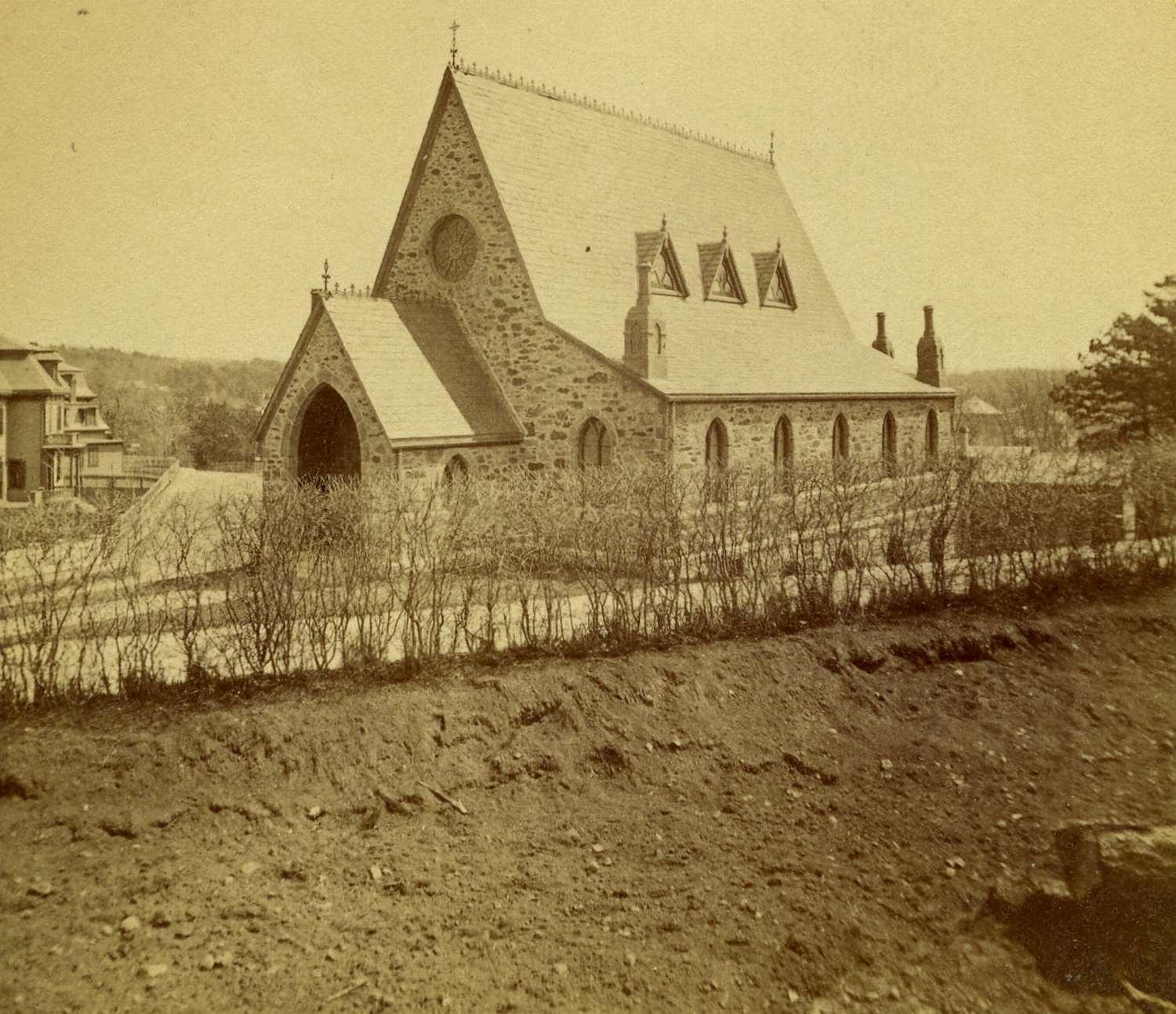 The former Methodist Church at the corner of Elm and Newbern Street. Courtesy of Greg French.