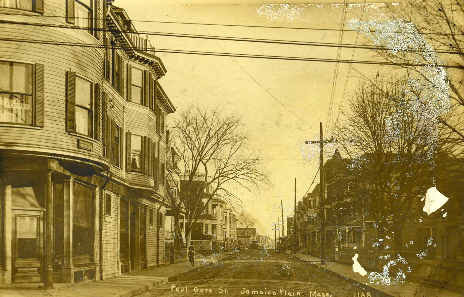 Paul Gore Street as seen from the corner of Centre Street. Courtesy of Greg French.