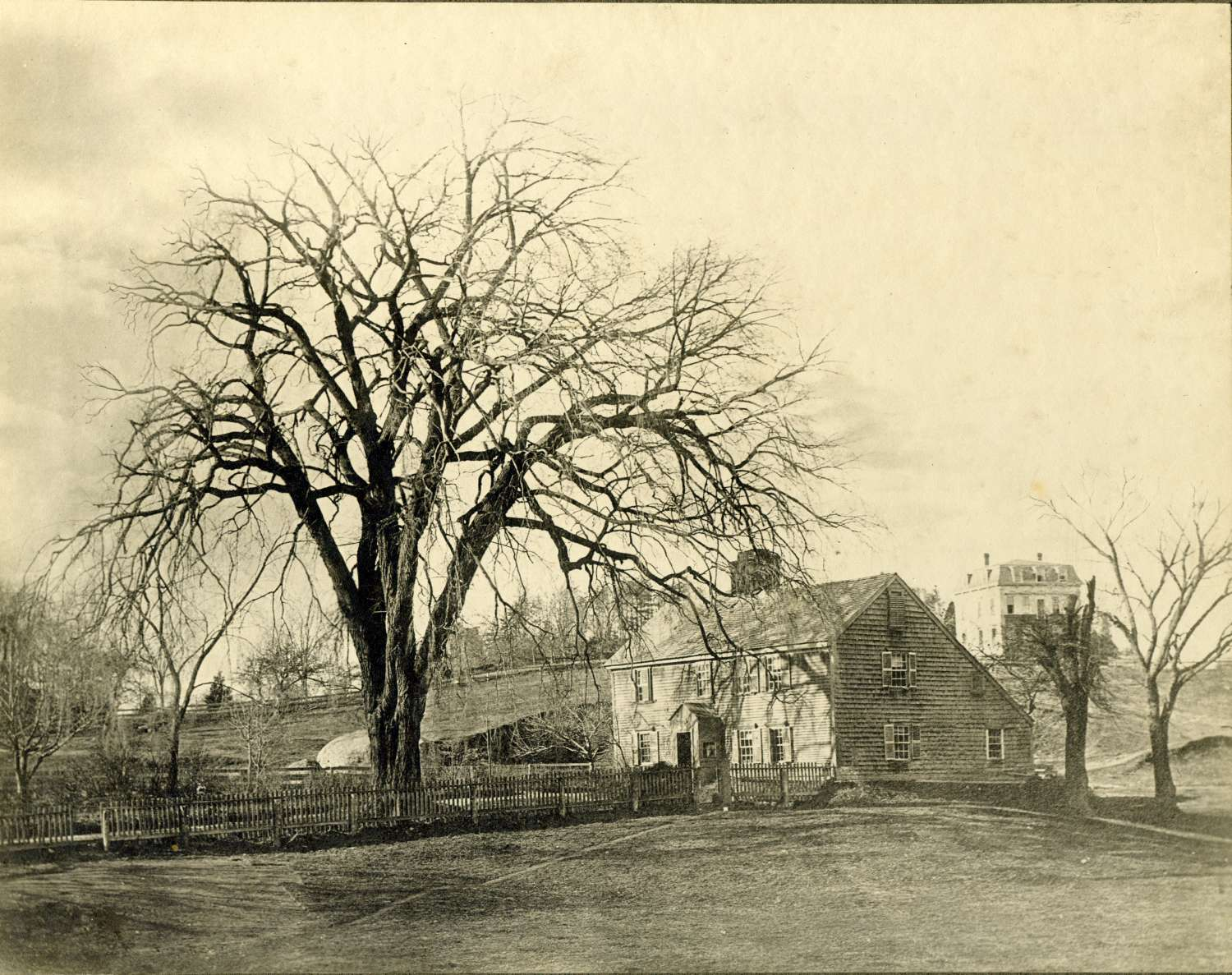 The first significant dwelling in Jamaica Plain, the homestead of William and Sally Curtis who arrived in 1638. Courtesy of Greg French.