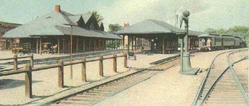 Boston & Albany Railroad station, South Framingham, Massachusetts.