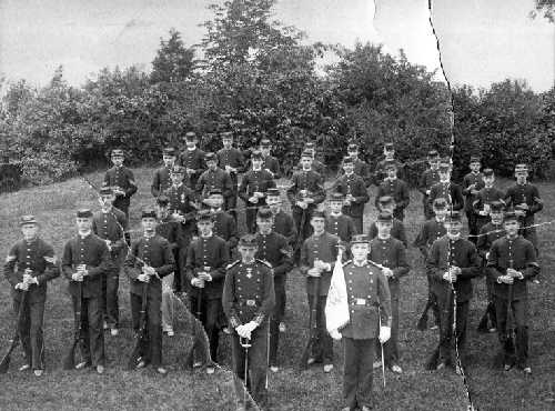 Pictured: Civil War cadets from Roxbury. Photograph from Jamaica Plain Historical Society archives.