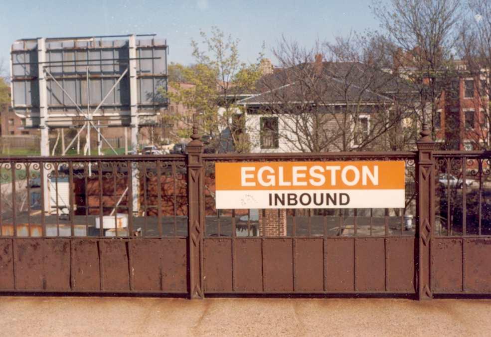 Egleston Square Orange Line station. Summer of 1982. Photograph by Richard Heath.