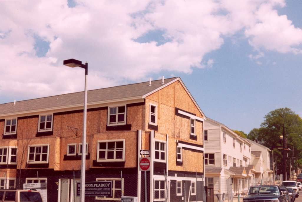 Academy Homes II now. Washington Street and Cobden Street. The photograph was taken in April, 2003.
