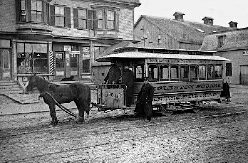 The Metropolitan Street Railway Company began horse car service from Dudley Square in 1867.