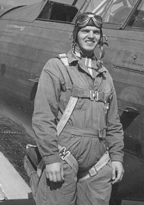 Phillip Rasmussen at flight school. Courtesy Wikipedia.
