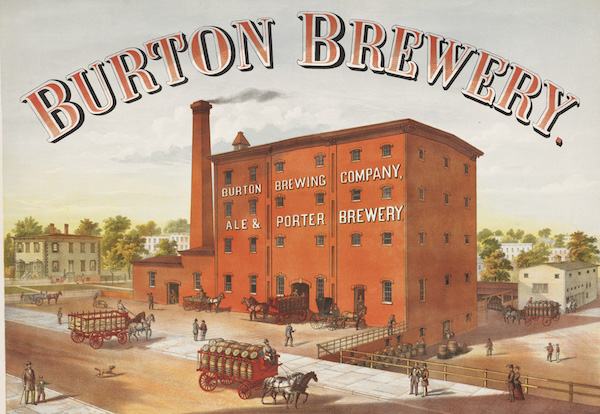 The Burton Brewery, Parker and Health Street. Courtesy Boston Public Library.