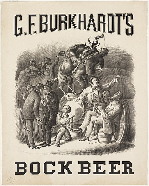 G.F. Burkhardt's Bock Beer poster https://commons.wikimedia.org/wiki/File:G._F._Burkhardts_bock_beer.jpg