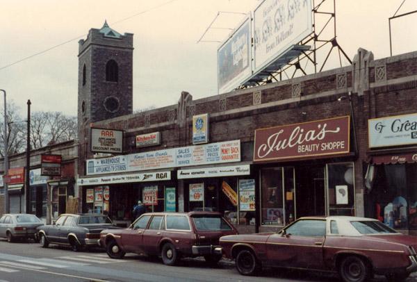 Julia's Beauty Shop. Photograph by Donald W. Latham. Jamaica Plain Historical Society archives.