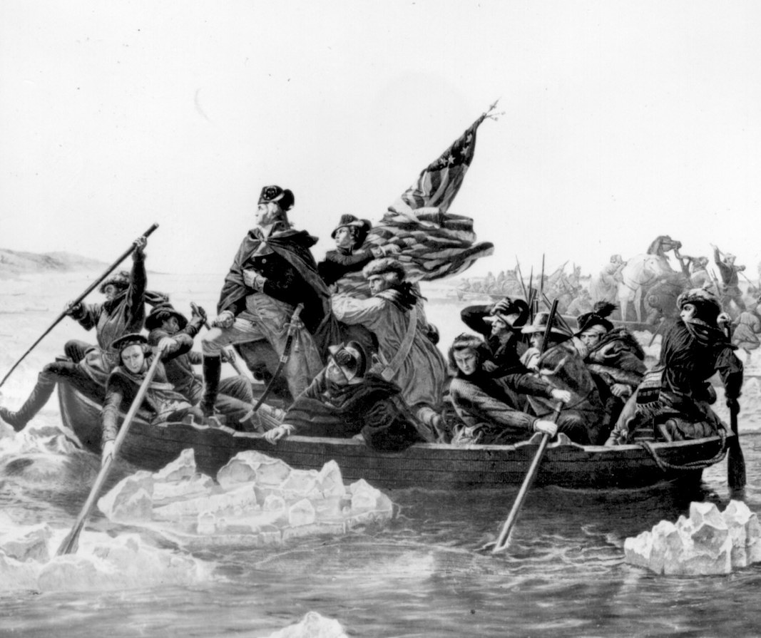 Crossing the Delaware. Painting by Emanuel Leutze.  Courtesy archives.gov