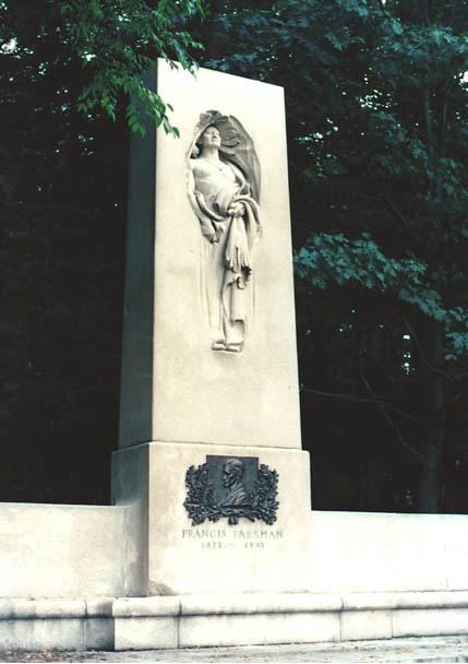 The Parkman Memorial in September 1990 shortly after restoration was complete. Photograph by Richard Heath.