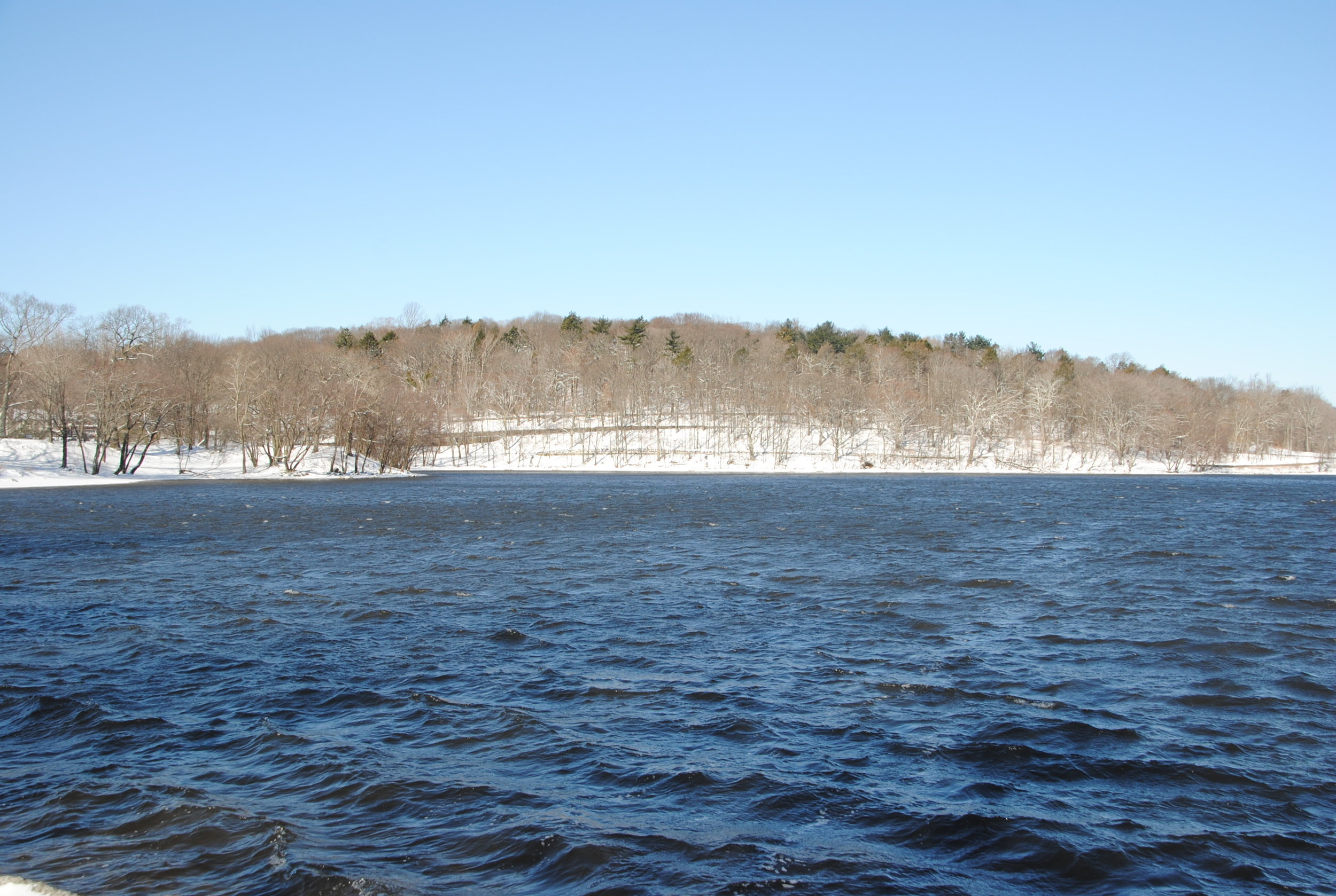 Hellenic Hill from Jamaica Pond. March 2017. Photograph courtesy of Richard Heath.