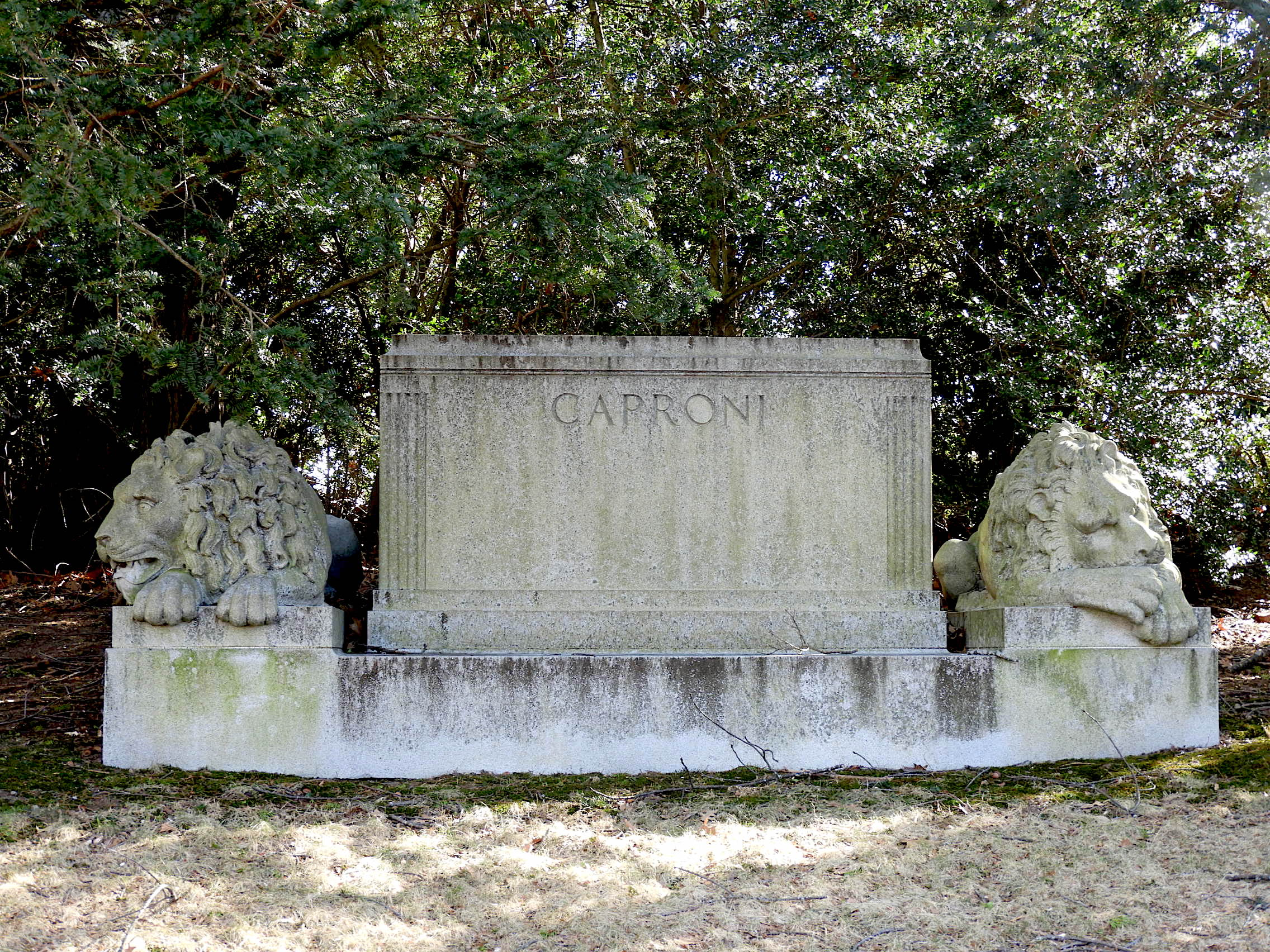 The Caproni Monument. Forest Hills Cemetery. Photograph by Richard Heath.