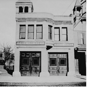 The first Egleston Square Fire Station near Atherton Street, Built circa 1880. Image courtesy of the BPL Print Department