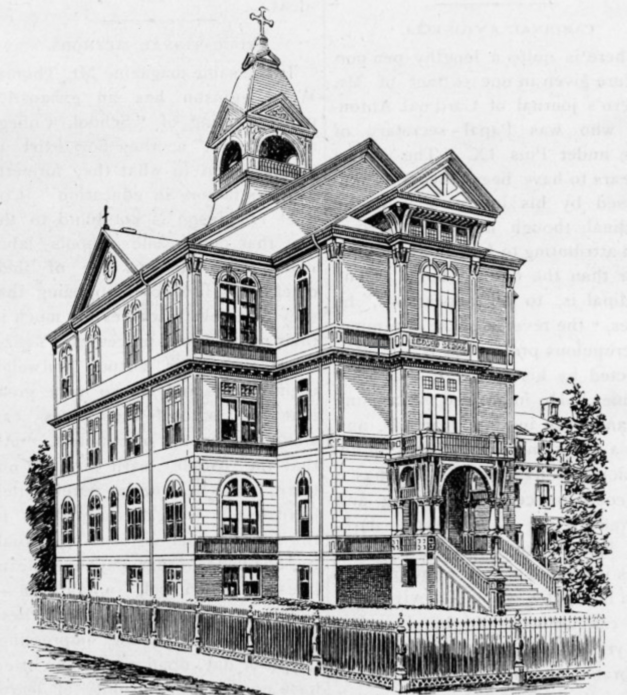 Pope Leo XIII School, from  Sacred Heart Review , May 14, 1892
