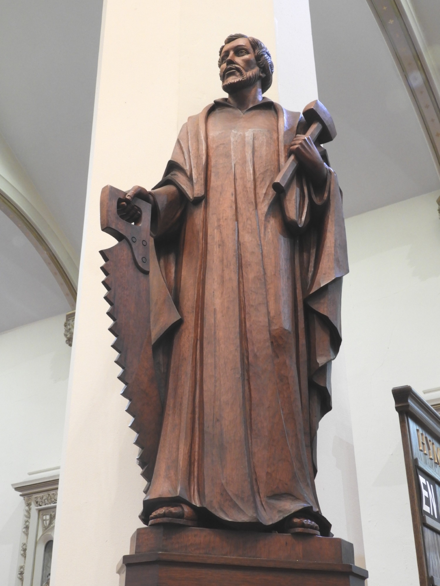 St. Joseph the Carpenter, unknown artist and date. Photograph by Richard Heath, 2019
