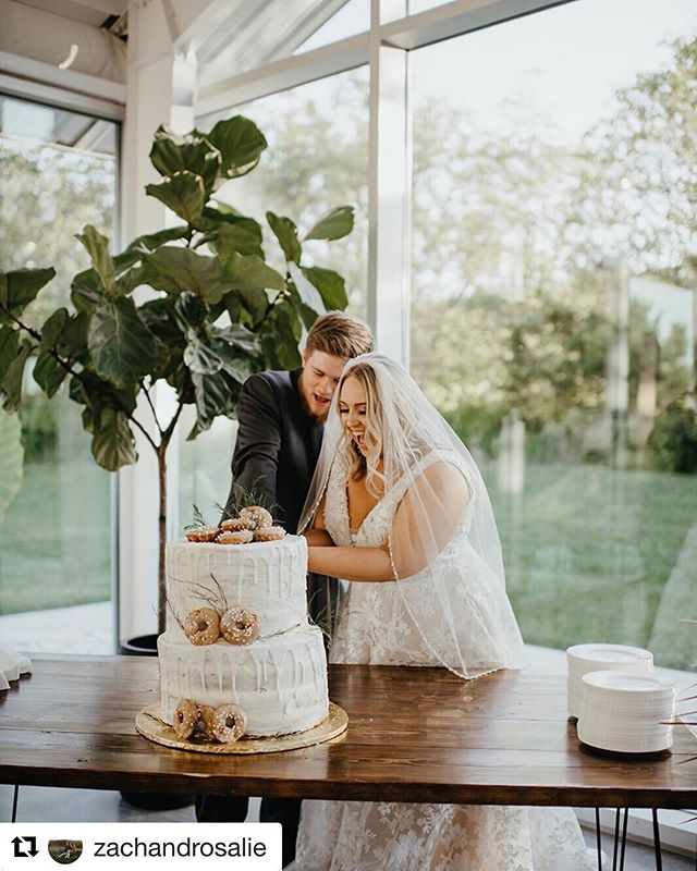 "@zachandrosalie are doing a fun giveaway for national donut day! Check it out!!! #Repost @zachandrosalie with @get_repost ・・・ Happy National Donut day! (One of the only holidays I acknowledge on Instagram.) Here is a photo of Nate and Megan celebrating ""Holy Matrimony"" slicing into the donut cake of my dreams at the venue of my dreams, @greenhousetworivers . These delicious donuts were @krispykreme . 🤤🤤 I'm still dreaming about the strawberry ones! 🍓 in honor of national donut day, we're giving away a $10 Krispy Kreme gift card at random to someone who shares this post on their stories! Just click the lil paper airplane, share to your stories, and tag us! Winner announced tomorrow! Good Luck!"