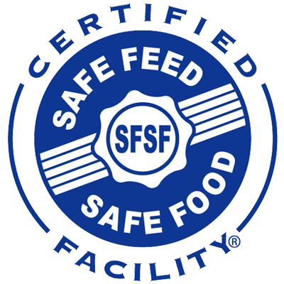 All of our Sun Foods products are stamped with the Safe Feed, Safe Food logo. - JFCO is committed to maintaining a higher level of safety and quality to our customrs and the animals we feed.