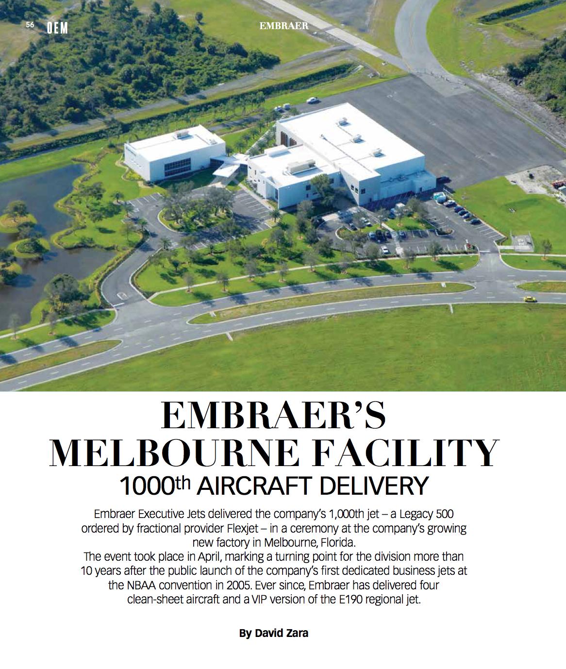 Embraer's Melbourne facility