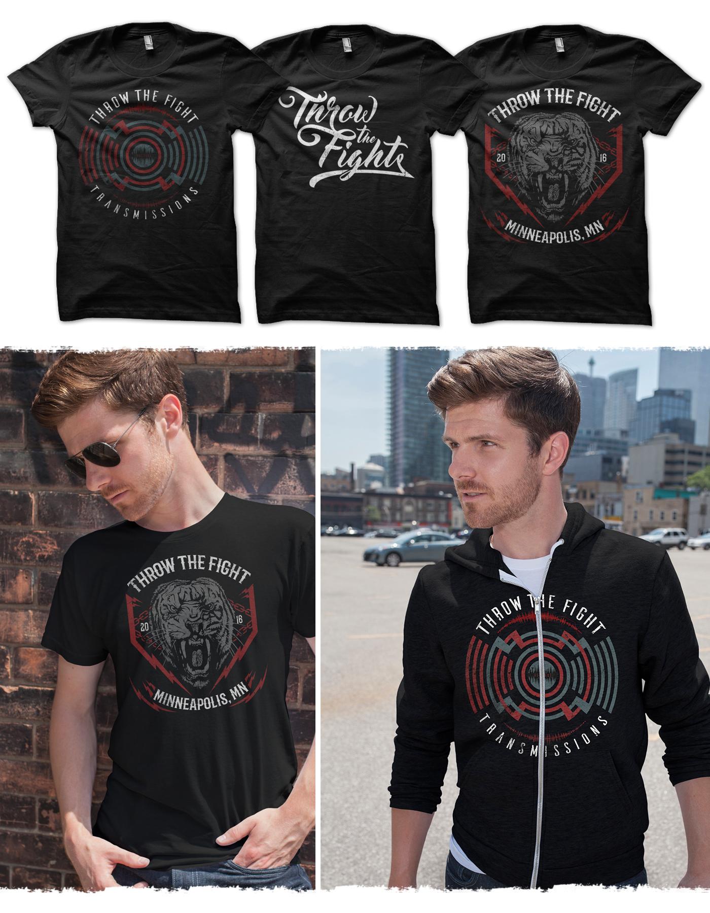 Throw The Fight merchandise designs