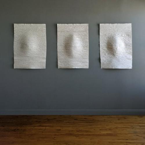 Islandmagee Triptych, 40h x 110w ins.