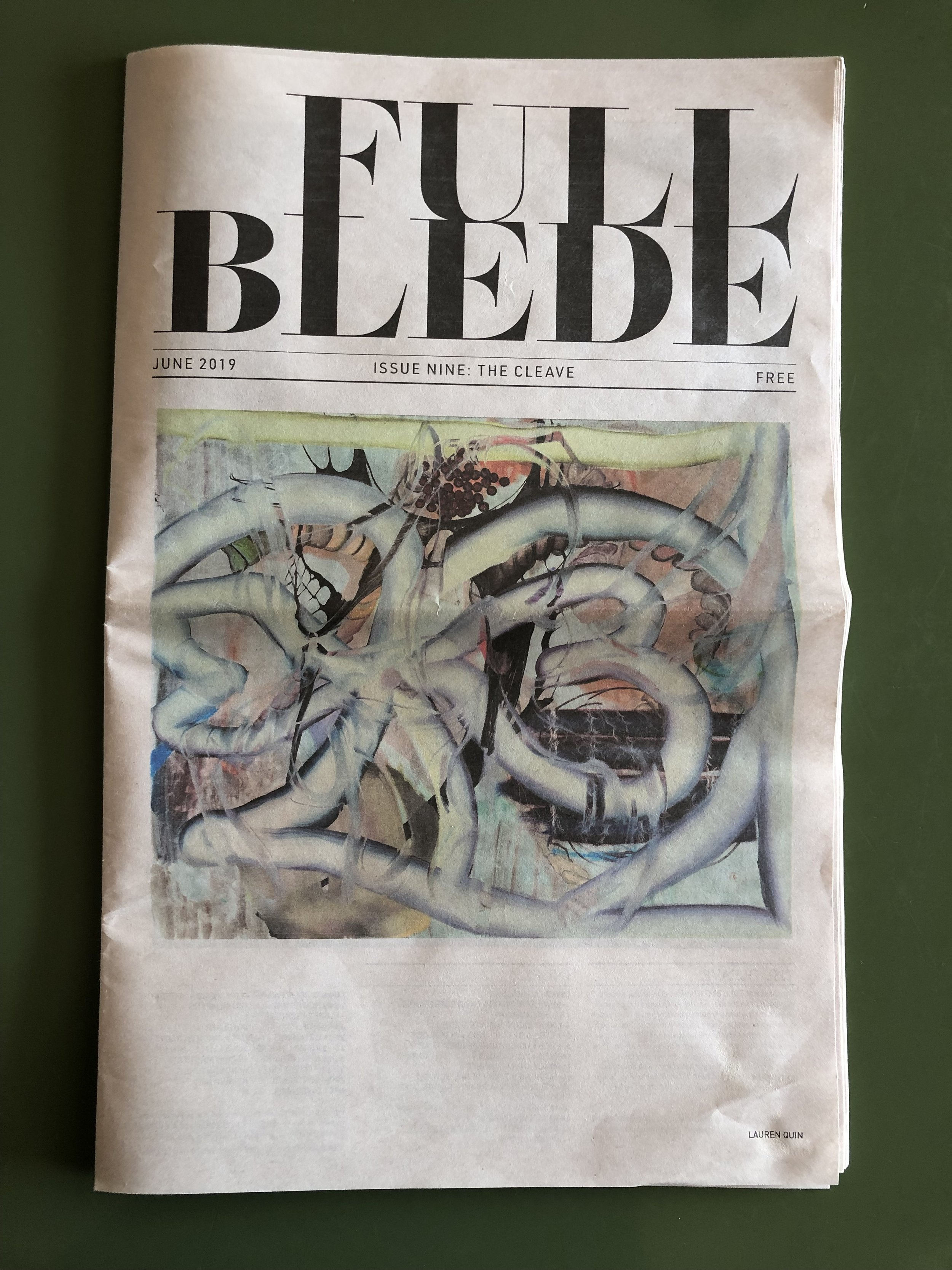Full Blede Issue Nine: The Cleave - Pick up your copy to see my work alongside many other great artists.