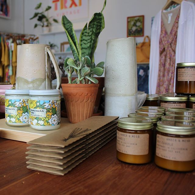 Hi. Restocked on allll the scents. Plus lots of moves and changes in the store for you to see! . . . #shopelementsbhm #shopsmall #shoplocal #birmingham #bhm #bham #crestwood #pfcandleco #greenwingsceramics #localgoods