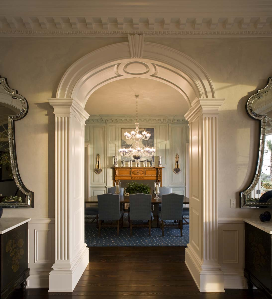 Jacksonville Estate Dining Room Entrance