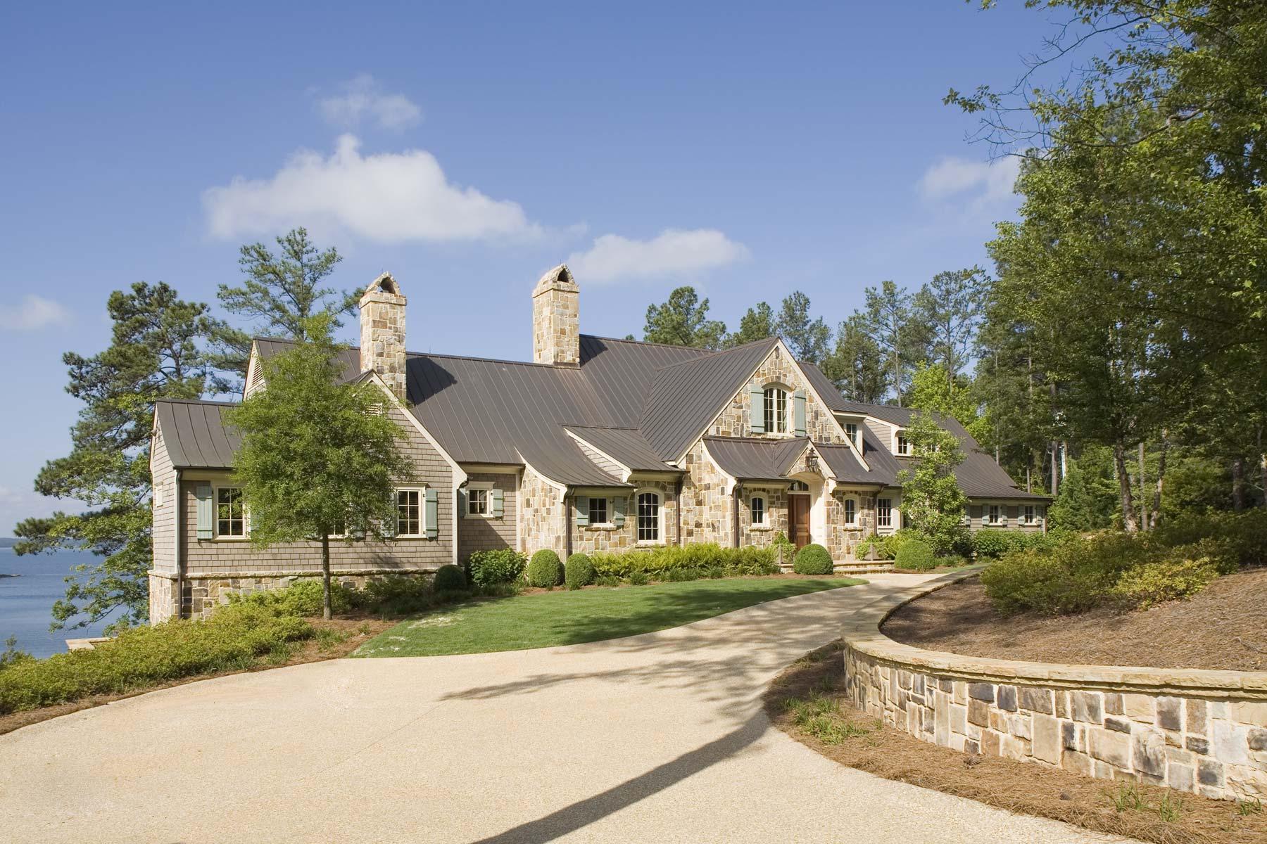South Carolina Lake House Facade
