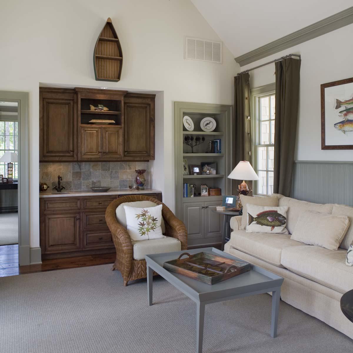 South Carolina Lake House Sitting Room