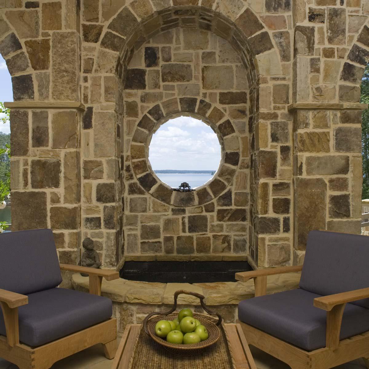 South Carolina Lake House Stone Masonry